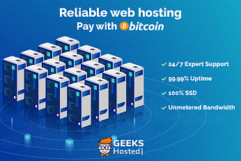 Azienda di hosting Web GeeksHosted.com con Esperienza Post Data Center Business Boom, ora accetta Bitcoin